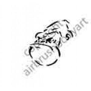 0255 ape head reusable stencil